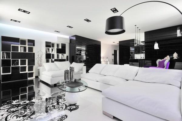 diseo de interiores de apartamento salacomedor y cocina muebles color blanco