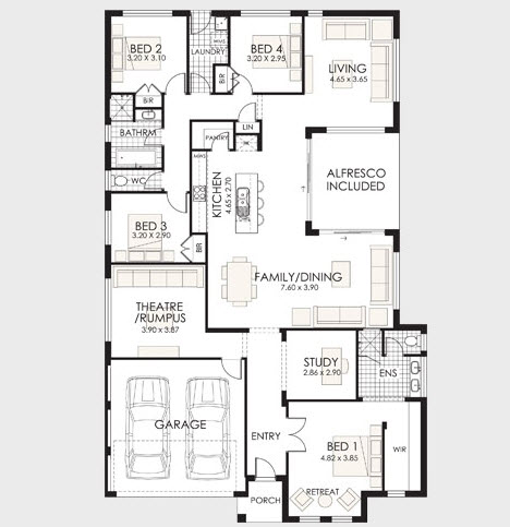 Planos de casas de un piso fachadas y planos de planta for Planos de viviendas de un piso
