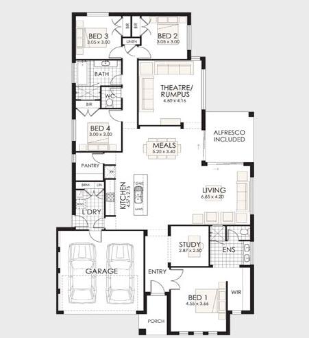 Planos de casas de un piso fachadas y planos de planta for Un plano de una casa