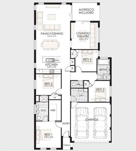 Planos de casas de un piso fachadas y planos de planta for Plantas de casas de un piso