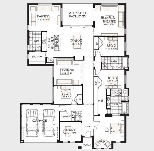 Planos de casas de un piso fachadas y planos de planta for Que es un plano arquitectonico