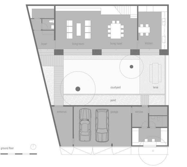 Dise o de casa r stica fachada interiores y planos for Planos de interiores de casas