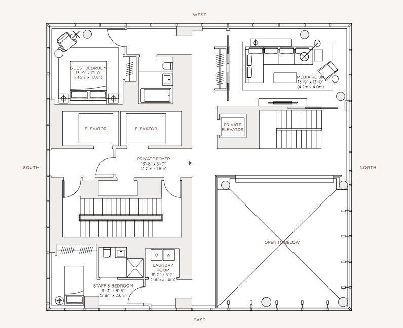 Diseu00f1o de apartamento de lujo con decoraciu00f3n y planos ...