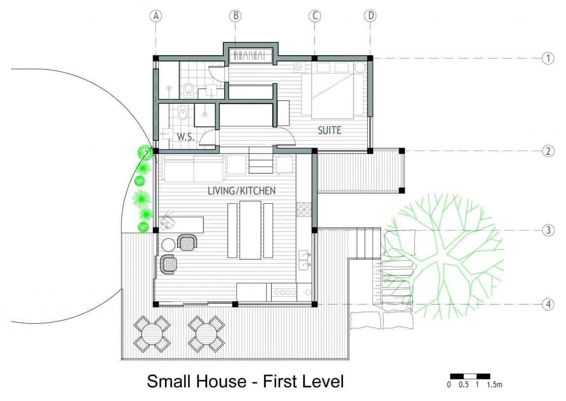 Dise o de casa de campo planos interior y fachadas for Casas planos y disenos