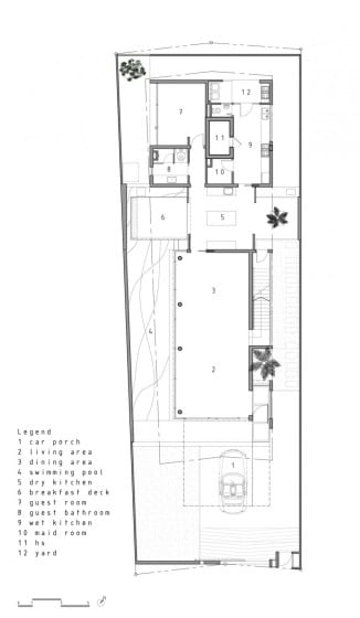 Planos de casa dos pisos moderna