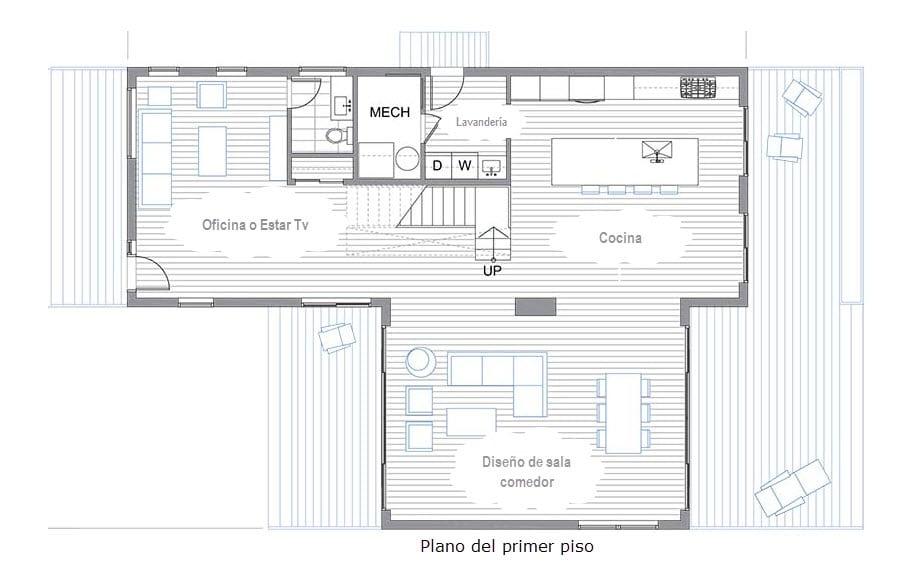 planos de dos pisos