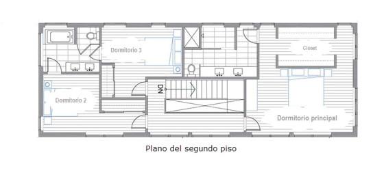 Planos de casa de dos pisos, diseu00f1o de vivienda que impresiona a bajo ...