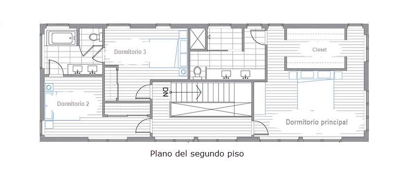 Planos de casa de dos pisos construcci n a bajo precio for Planos para segundo piso