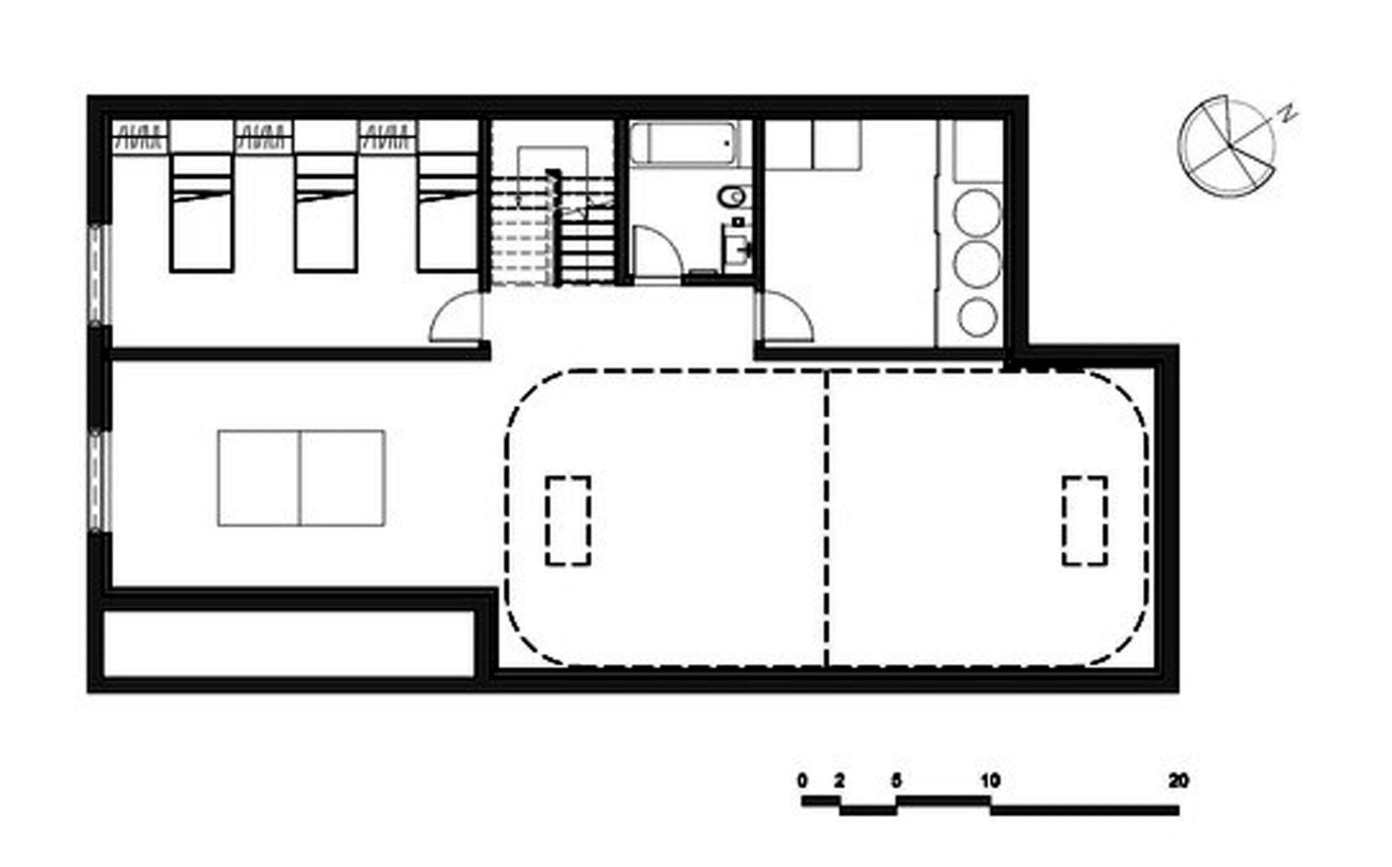 Dise o de casa moderna de dos pisos m s s tano planos - Diseno de planos de casas ...