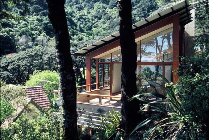 Diseño de casa en la montaña construida en madera, maqueta con