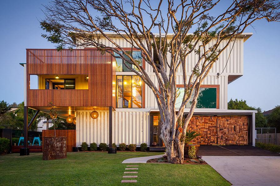 Casa hecha de contenedores construye hogar - Contenedores para casa ...