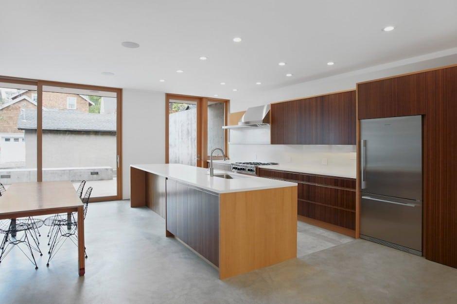 diseo de cocina de casa de dos niveles