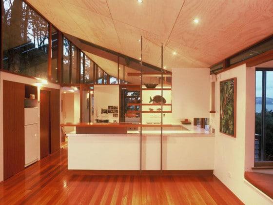 Diseño de cocina de casa montaña
