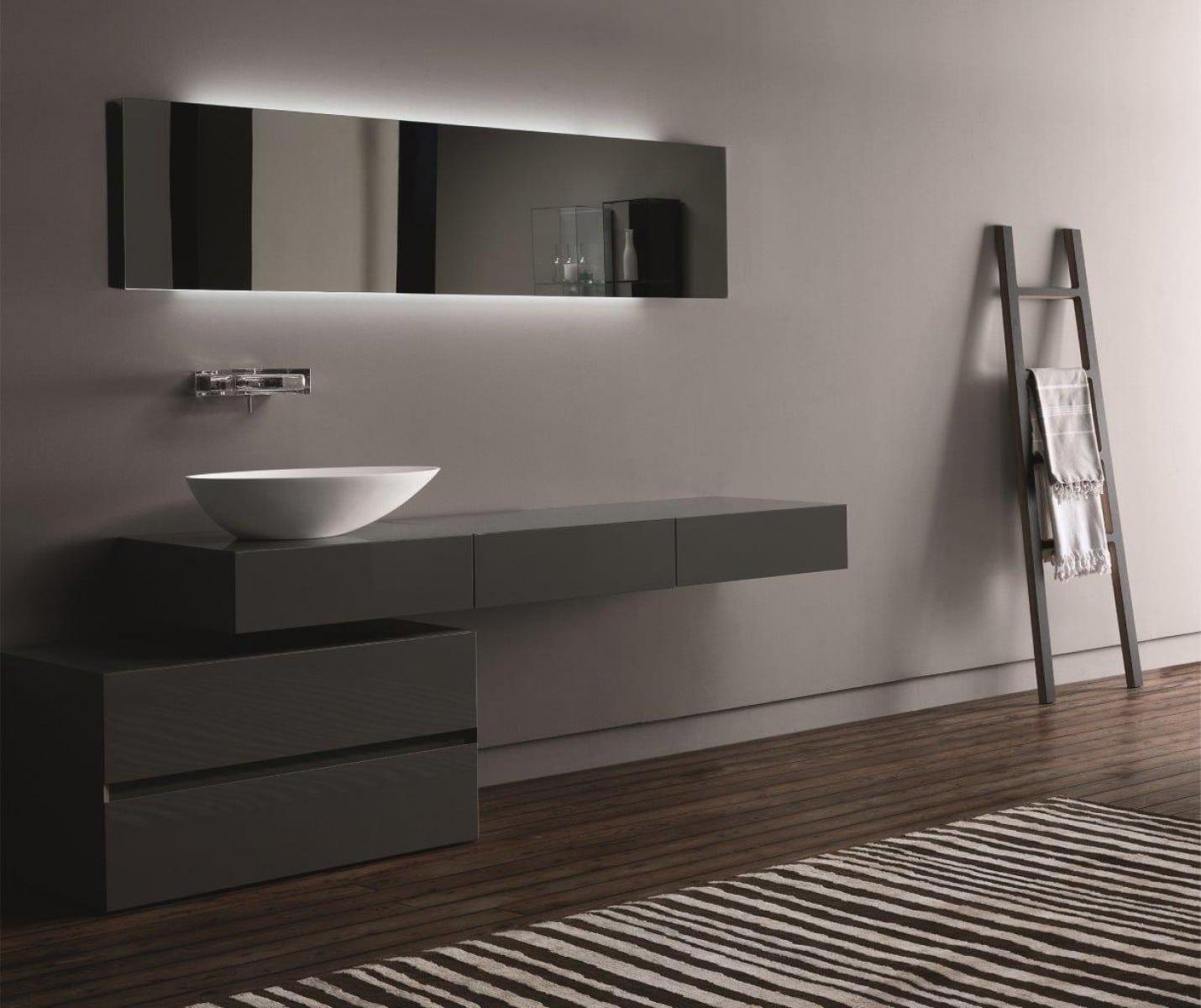 Baños Grises Modernos:Diseño de cuartos de baño modernos [Fotos]
