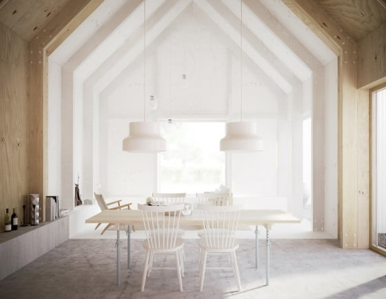 Diseño de interiores con paredes de madera