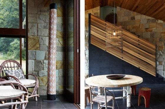 Dise o de interiores r stico de casa rural madera y - Interiores rusticos de casas ...