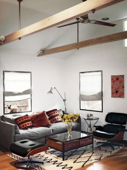 Diseño de interiores sala de casa de madera