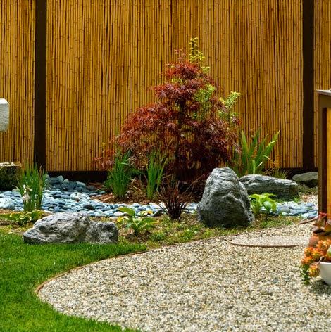 Diseño de jardín tipo japonés especial para terraza