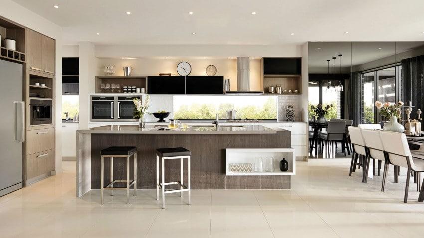Casa de dos pisos moderna fachada y dise o de interiores - Casas modernas interior ...