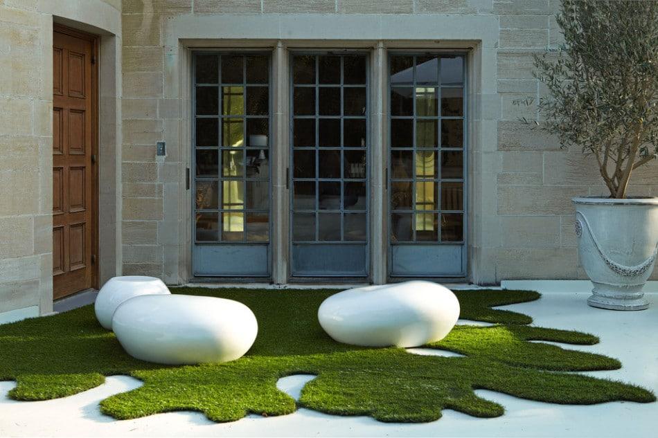diseo de terraza con grass artificial