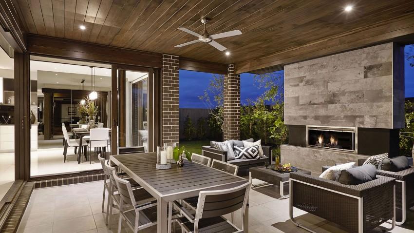 Casa de dos pisos moderna, fachada y diseño de interiores ...