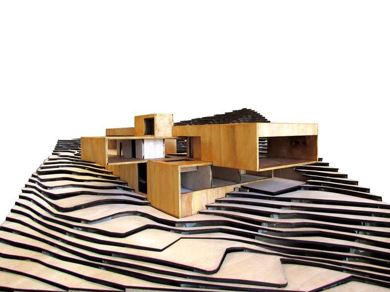 Dise O De Casa Moderna En La Monta A Construida En