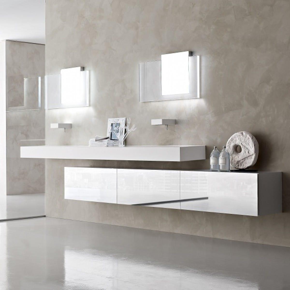 beautiful baos modernos cuarto de bao blanco baos modernos blanco with azulejos para cuartos de bao modernos - Cuartos De Bao Modernos