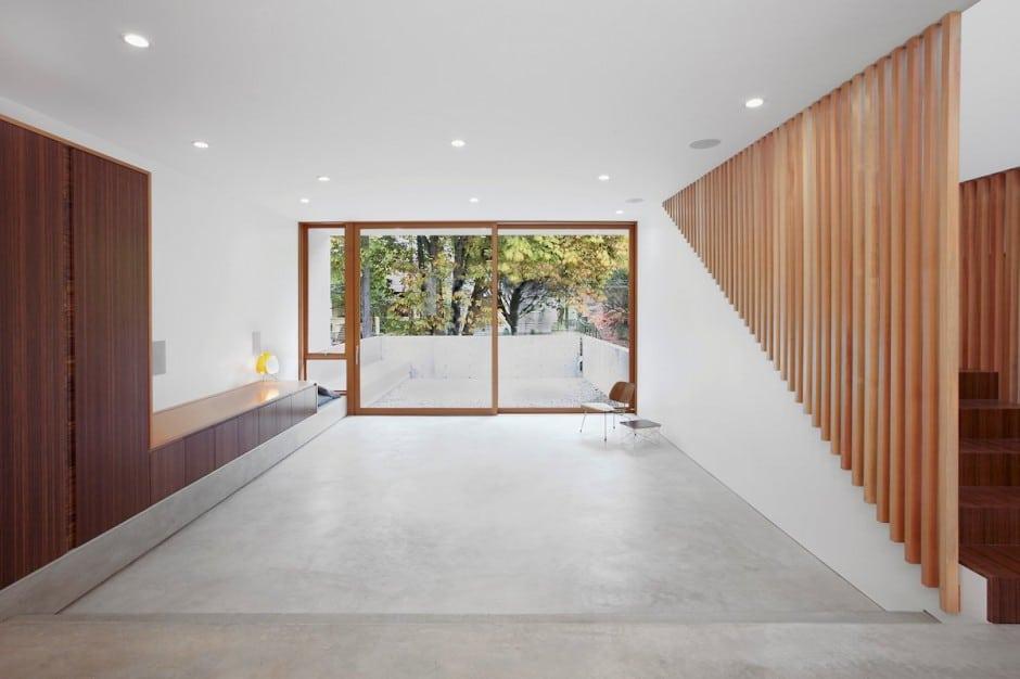 Planos de casa de dos pisos en terreno peque o construye for Cemento pulido para exterior