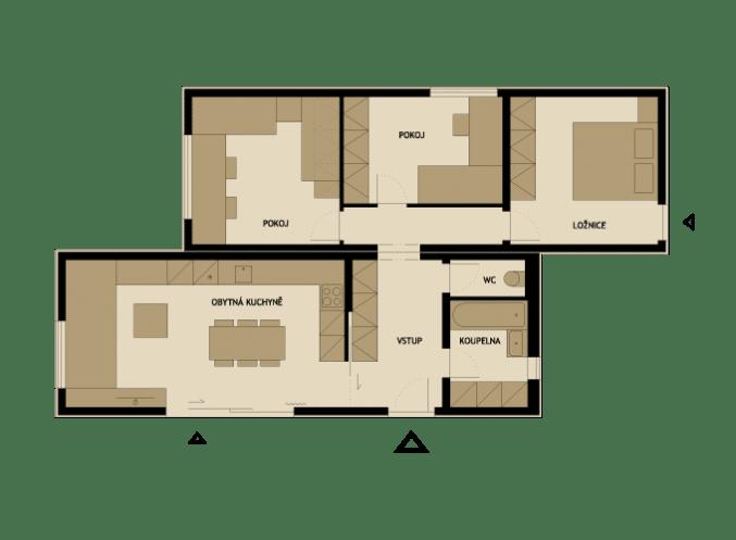 3 modelos de planos de casas peque as de madera - Casas prefabricadas por modulos ...