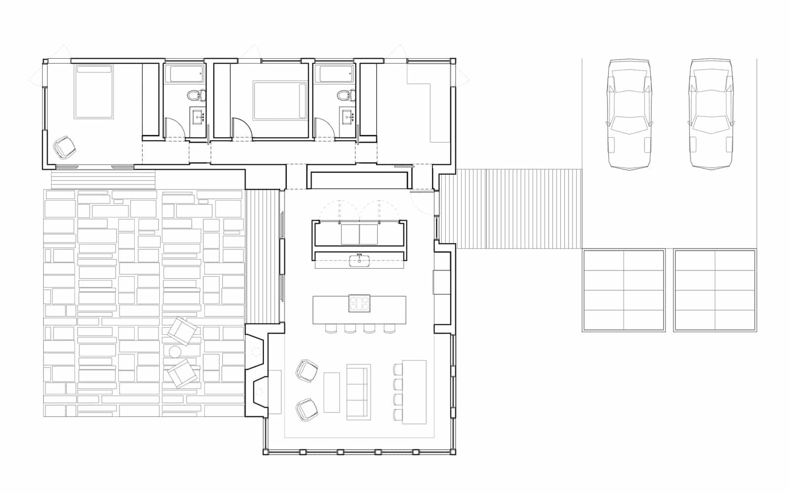 dise o de casa en forma de l planos y fachadas
