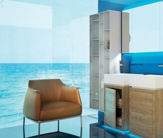 Mueble en cuarto de baño moderno