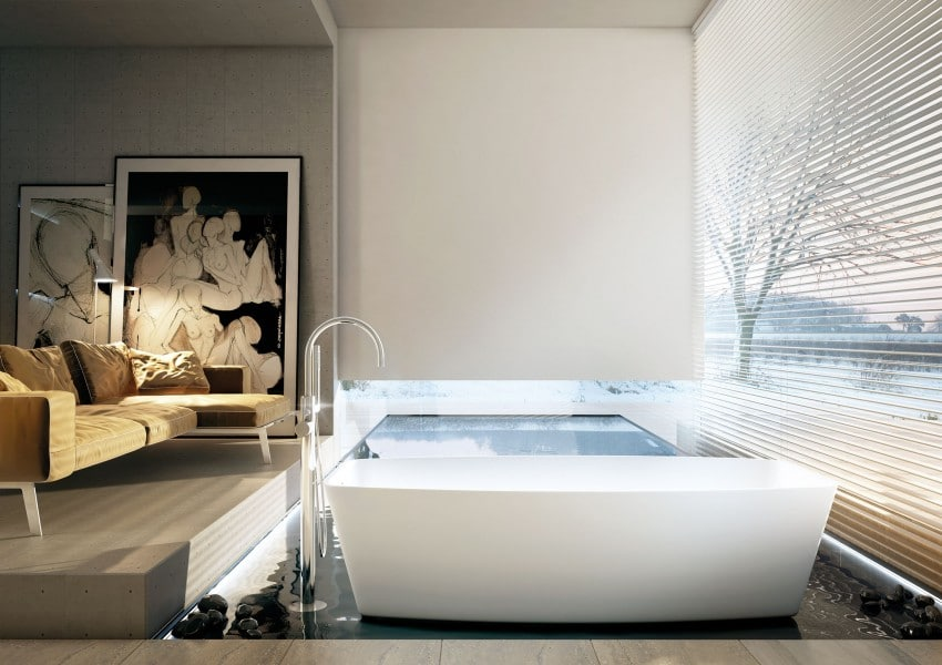 Decoracion Baño Con Tina: cuartos de baño modernos, consigue novedosos diseños con estas ideas