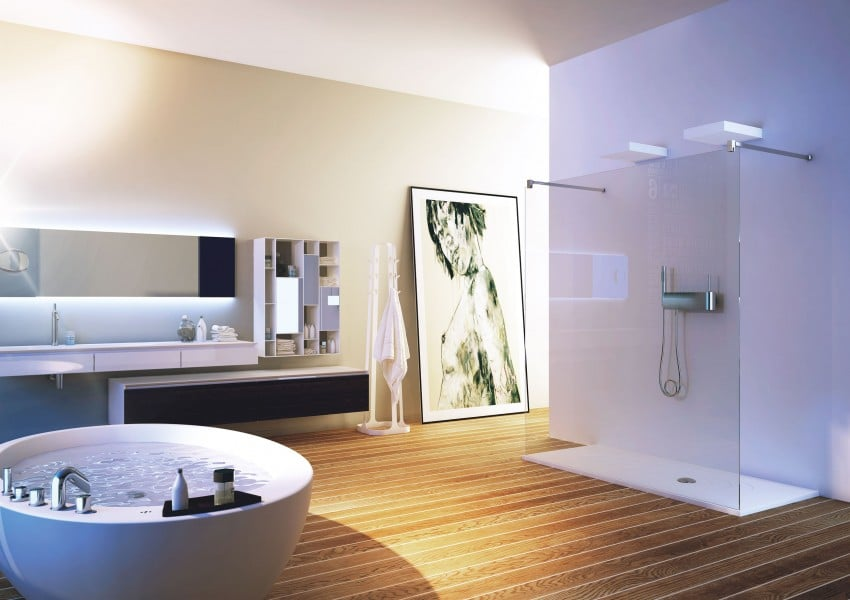 Baños Elegantes Con Tina:Luxury Modern Bathrooms with Showers