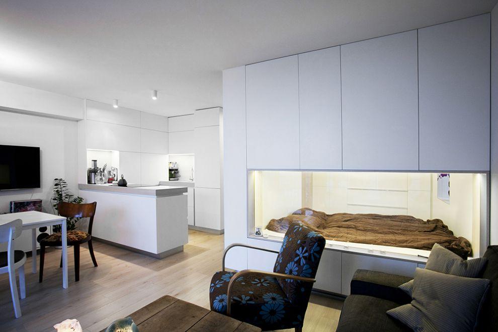 Dise o de plano de apartamento peque o de un dormitorio for Como organizar un piso pequeno