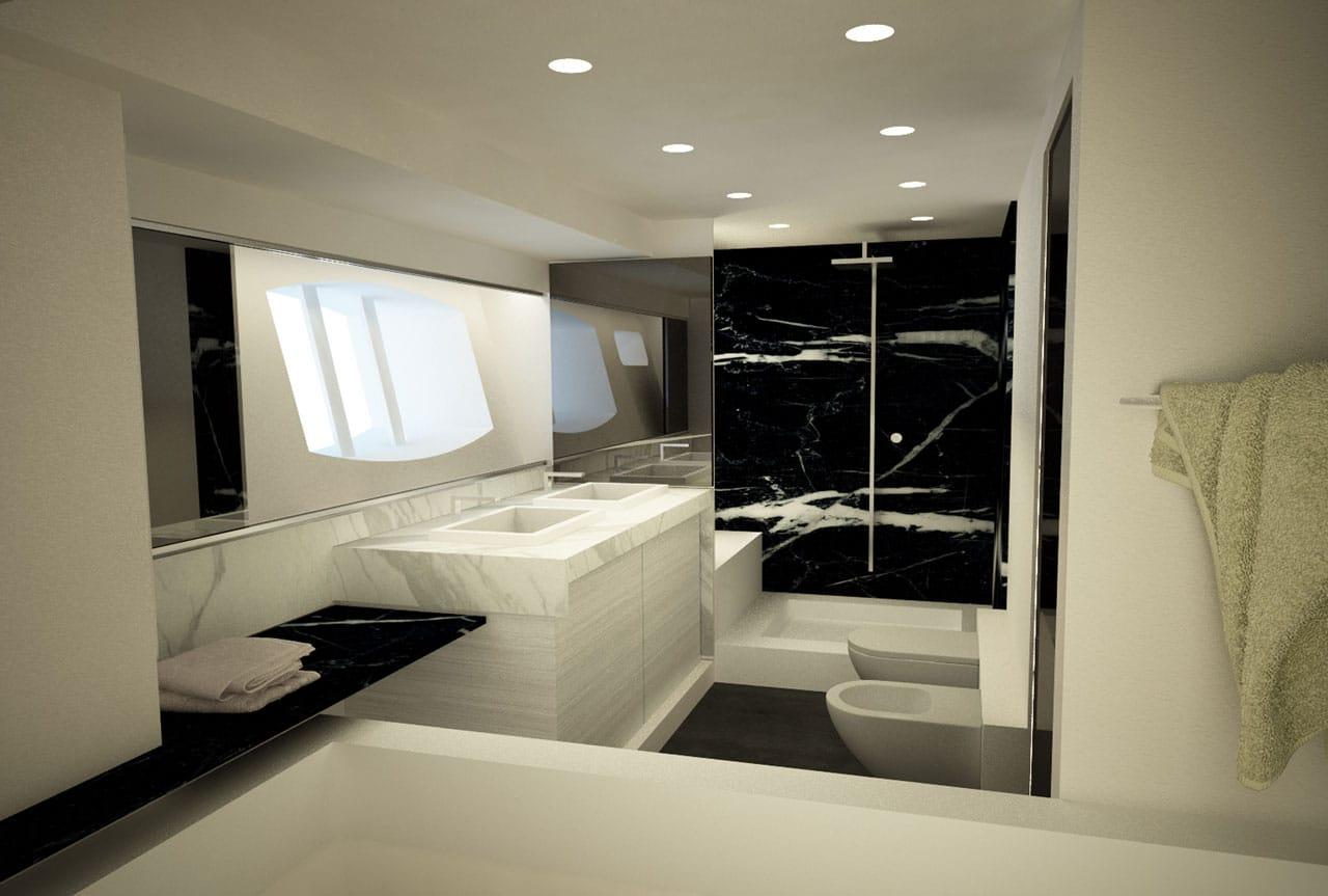 Baños Jacuzzi Modernos: de planos de distribución de un moderno barco
