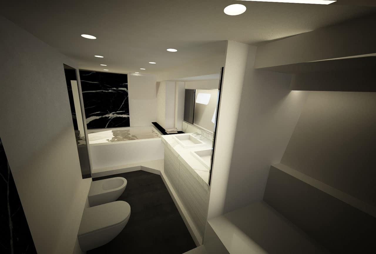 Distribucion De Un Baño Con Tina:Diseño de planos de distribución de un moderno barco