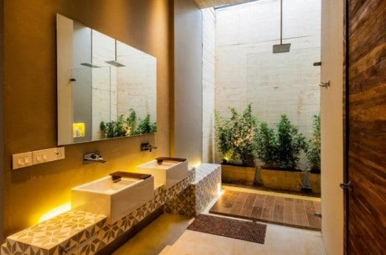 Diseño de cuarto de baño para casa del campo