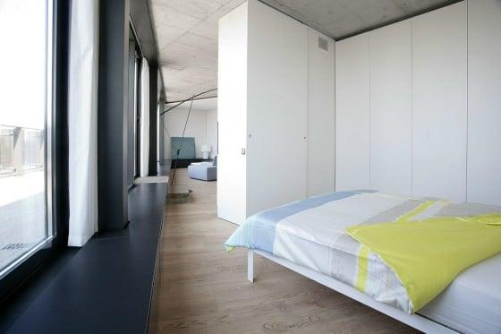 Diseño de dormitorio triangular