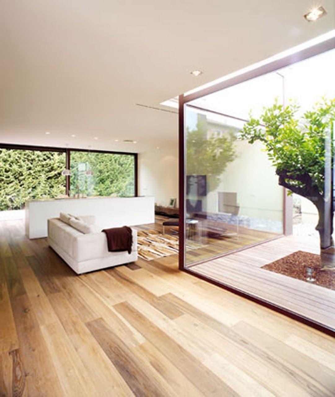 Jardines interiores en casas modernas dise os for Planos de interiores