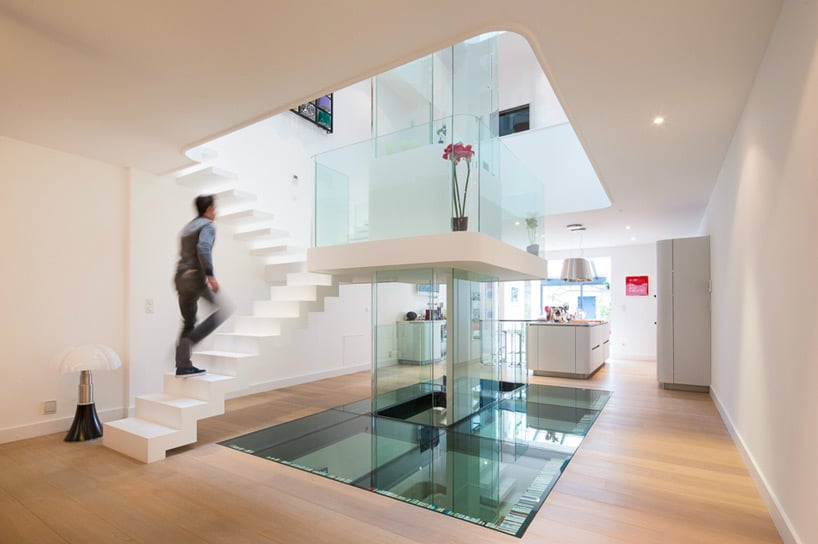 Pin dise escaleras modernas genuardis portal on pinterest - Escaleras modernas interiores ...