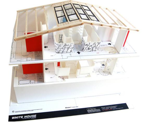 Diseño de maqueta diseño de interiores moderno