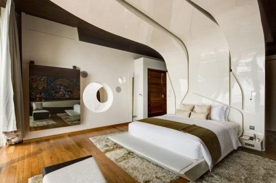 Diseño de moderno dormitorio principal