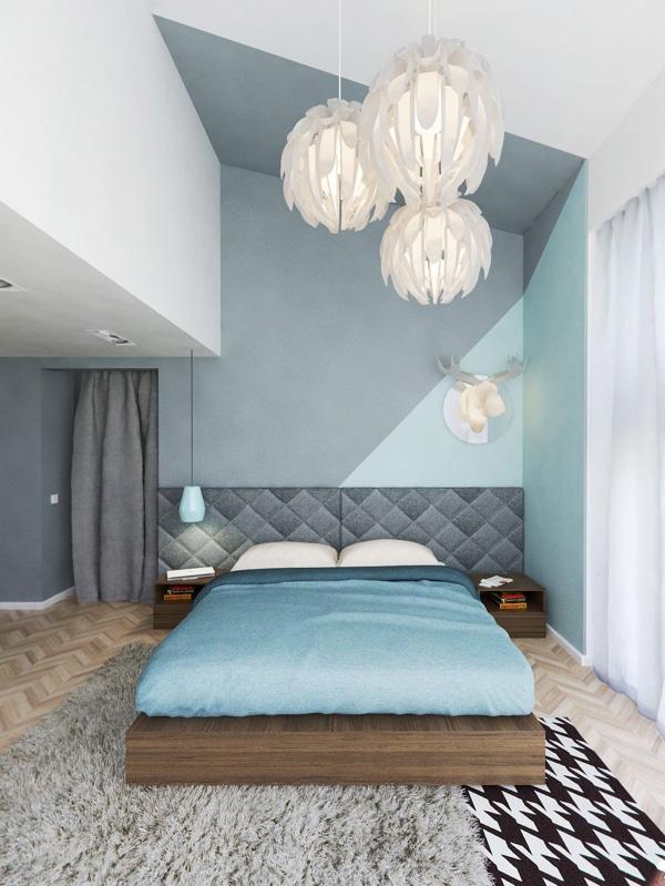 diseo de moderno dormitorio de aspecto juvenil con colores pastel