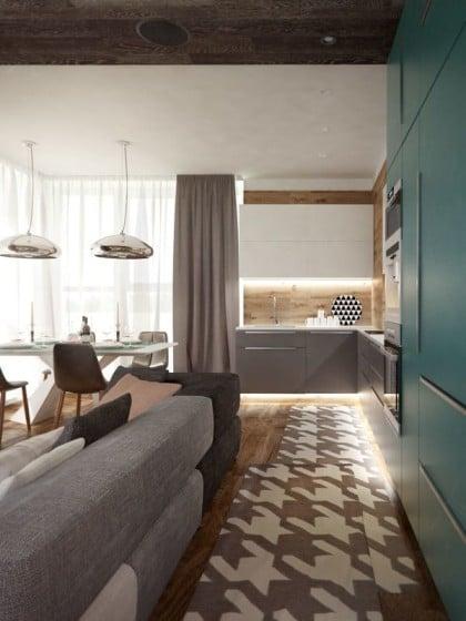 Diseño de piso especial para cocina es parte de la decoración