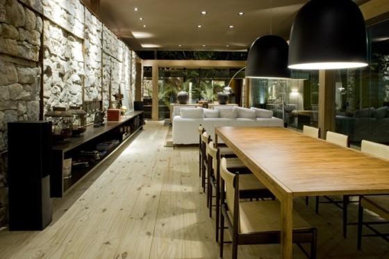 Diseño de sala comedor de casa pequeña