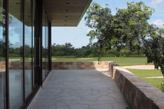 Diseño de terraza de piedra
