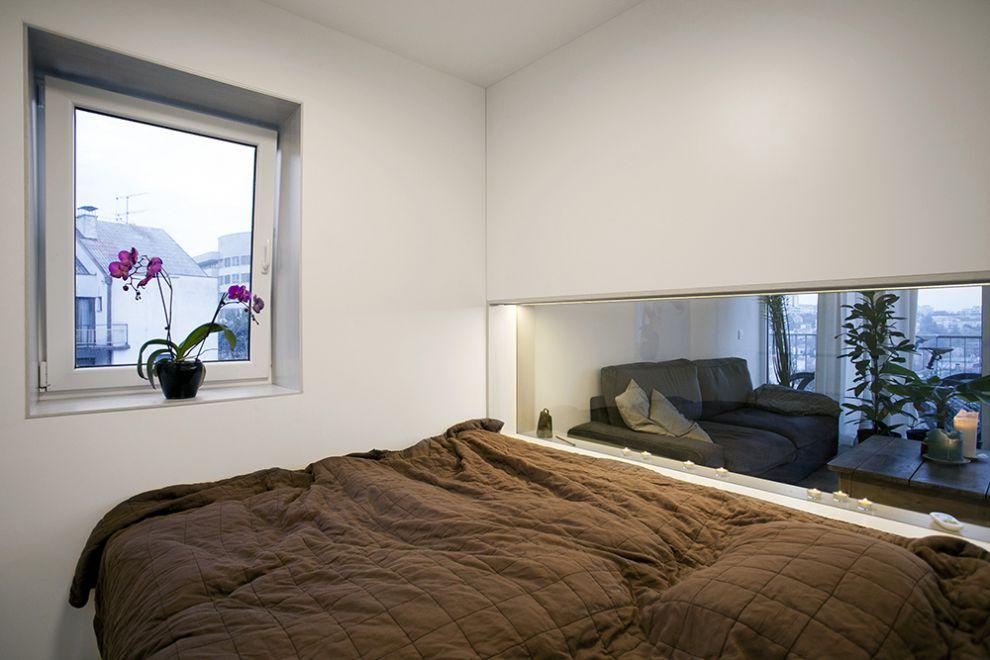 Dise o de plano de apartamento peque o de un dormitorio for Dormitorio sala