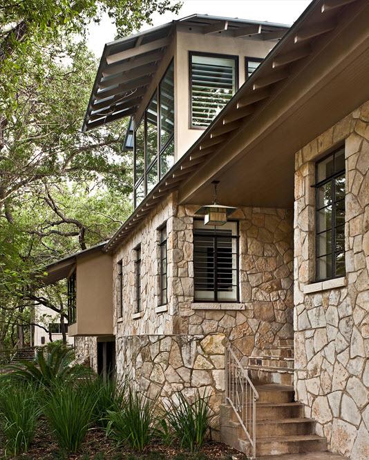 Fachada de casa r stica donde incluimos dise o interior - Piedras rusticas para fachadas ...