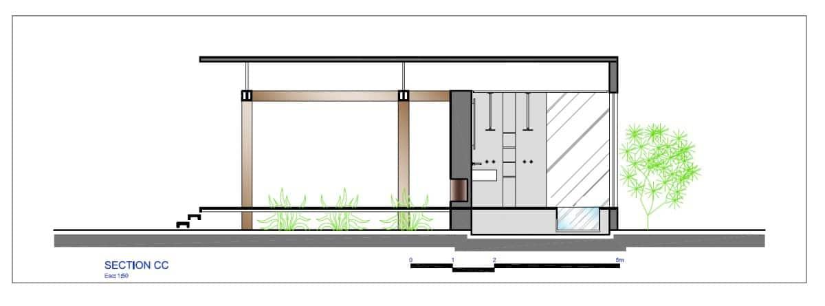 Planos de casa peque a de un dormitorio fachada e - Bauhaus iluminacion interior ...