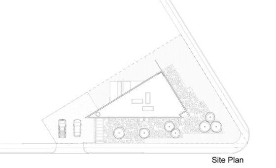 Plano de ubicación casa triangular